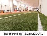 artificial grass in the sport... | Shutterstock . vector #1220220292