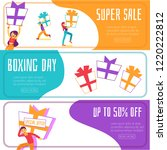vector boxing day super sales ... | Shutterstock .eps vector #1220222812