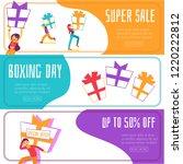 vector boxing day super sales ... | Shutterstock .eps vector #1220222812