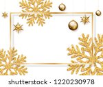 christmas  new year and winter...   Shutterstock . vector #1220230978