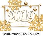 happy new year design white...   Shutterstock . vector #1220231425