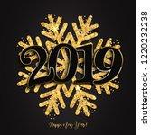 happy new year design black...   Shutterstock . vector #1220232238