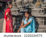swayambhunath stupa  also known ... | Shutterstock . vector #1220234575