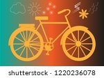 the image of the bike with the... | Shutterstock . vector #1220236078