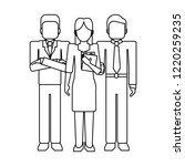 business teamwork avatar black... | Shutterstock .eps vector #1220259235