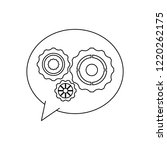 gears inside bubble black and... | Shutterstock .eps vector #1220262175