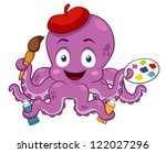 illustration of cartoon artist... | Shutterstock .eps vector #122027296