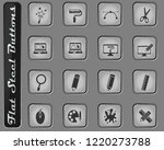 design vector web icons on the... | Shutterstock .eps vector #1220273788