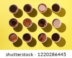 coffee cups with different... | Shutterstock . vector #1220286445