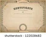detailed vintage certificate...   Shutterstock . vector #122028682