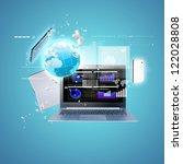 best internet concept of global ... | Shutterstock . vector #122028808