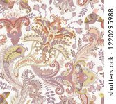 vector paisley pattern. indian... | Shutterstock .eps vector #1220295988