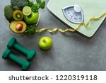 diet and healthy life concept.... | Shutterstock . vector #1220319118