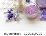 lavender aromatherapy spa with...   Shutterstock . vector #1220319202