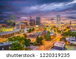 tulsa  oklahoma  usa skyline at ... | Shutterstock . vector #1220319235