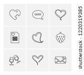 set of 9 icons  for web ... | Shutterstock .eps vector #1220319385
