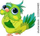 illustration of cute baby parrot | Shutterstock .eps vector #1220324485