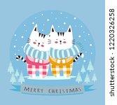 christmas card.a cute little...   Shutterstock .eps vector #1220326258
