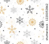 christmas with snowflake... | Shutterstock .eps vector #1220352862