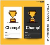 champ card with simple flat... | Shutterstock .eps vector #1220364625