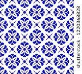 porcelain flower pattern... | Shutterstock .eps vector #1220368828