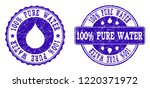 grunge 100  pure water stamp... | Shutterstock .eps vector #1220371972