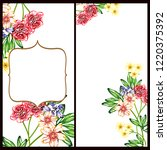 romantic wedding invitation... | Shutterstock . vector #1220375392