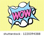 pop art comic speech bubbles... | Shutterstock .eps vector #1220394388