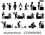 icons for workers  employees ... | Shutterstock .eps vector #1220406382