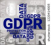 general data protection... | Shutterstock .eps vector #1220414005