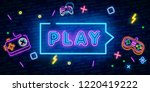 play game place. gambling... | Shutterstock .eps vector #1220419222