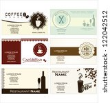 set of 6 business cards for...   Shutterstock .eps vector #122042512