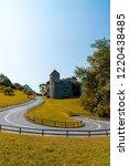 beautiful architecture at vaduz ... | Shutterstock . vector #1220438485