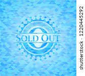 sold out light blue emblem with ... | Shutterstock .eps vector #1220445292
