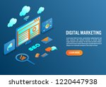 digital marketing concept in... | Shutterstock .eps vector #1220447938