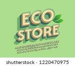 vector logo eco store with... | Shutterstock .eps vector #1220470975