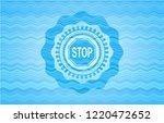 stop icon inside water... | Shutterstock .eps vector #1220472652