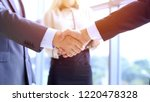 business people shaking hands... | Shutterstock . vector #1220478328