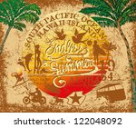 endless summer retro style | Shutterstock .eps vector #122048092