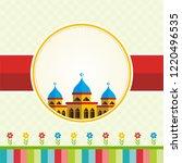 cartoon islamic greeting card ...   Shutterstock .eps vector #1220496535