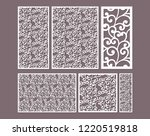 laser cut ornamental panels... | Shutterstock .eps vector #1220519818