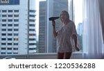 young funny joyful woman in... | Shutterstock . vector #1220536288