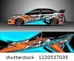 car decal graphic vector  wrap... | Shutterstock .eps vector #1220537035