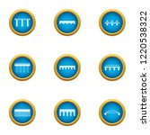 overpass icons set. flat set of ... | Shutterstock . vector #1220538322