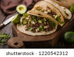 homemade minced beef tortilla ... | Shutterstock . vector #1220542312