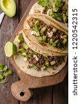 homemade minced beef tortilla ... | Shutterstock . vector #1220542315