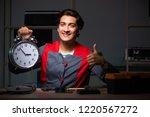 young handsome repairman... | Shutterstock . vector #1220567272