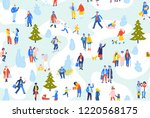 seamless background with group... | Shutterstock .eps vector #1220568175