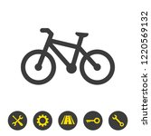 bicycle icon on white... | Shutterstock .eps vector #1220569132