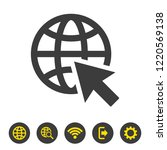 go to web icon on white... | Shutterstock .eps vector #1220569138